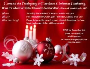 Christmas Party Invitation-Presbytery